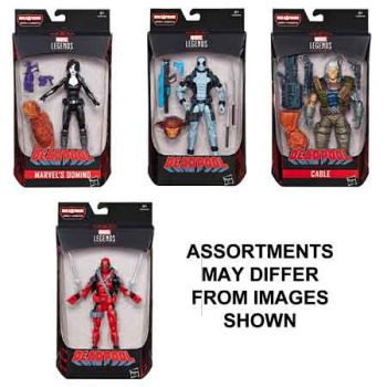 Marvel Deadpool 6 inch Legends Figures assorted ( ONLY SOLD in carton of 8 )