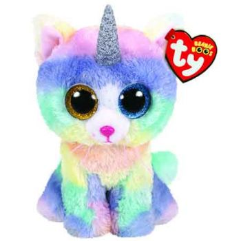Ty Beanie Boos Regular - Heather Cat with Horn