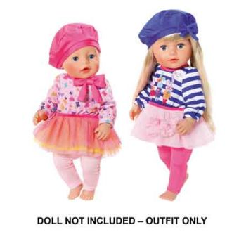 Baby Born Fashion Collection Outfit assorted ( DOLL NOT INCLUDED )