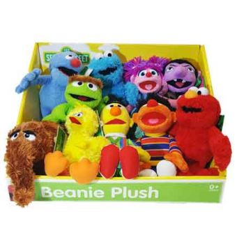 Sesame Street Basic Beanie Plush WAVE 2 assorted ( ONLY SOLD in Display of 12 )