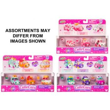 Cutie Cars Shopkins Series 2 3 Pack Assorted
