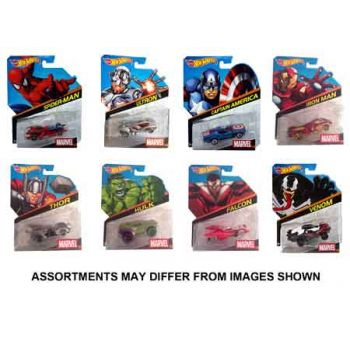 Hot Wheels Marvel Character assorted ( ONLY SOLD in Carton of 8 )