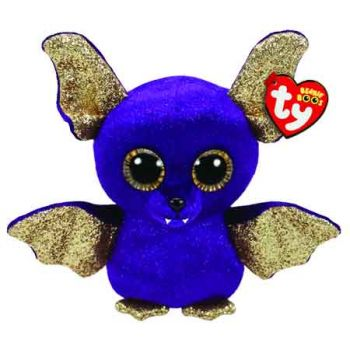 Ty Beanie Boos Regular - HALLOWEEN Purple Bat with Wings