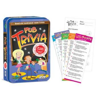 Pub Trivia Game in Tin