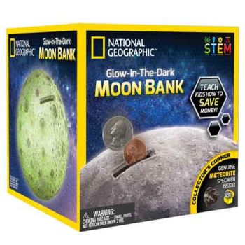 National Geographic Glow in the Dark Moon Bank