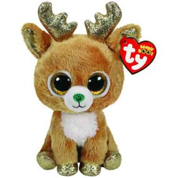 Ty Beanie Boos Regular - CHRISTMAS Glitzy Reindeer