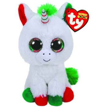 Ty Beanie Boos Regular - CHRISTMAS Candy Cane Unicorn