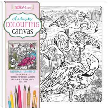 Colouring Canvas Flamingo