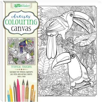 Colouring Canvas Tropical Leaves