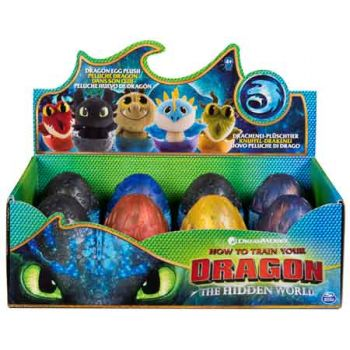 """""""Dragons 3 4"""""""" Plush Dragon in Egg assorted ( ONLY SOLD in Display of 12 )"""""""