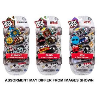 Tech Deck 4 Pack assorted ( ONLY SOLD in Carton of 8 )