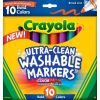 Crayola 10 Ultra-Clean Bold Broadline Markers