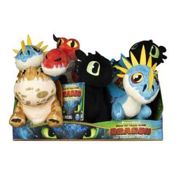 Dragons 3 8inch Plush assorted ( ONLY SOLD in Display of 6 )