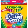 Crayola 10 Ultra-Clean Bright Broadline Markers