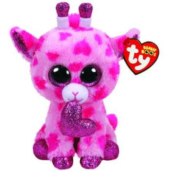 Ty Beanie Boos Regular VALENTINES - Sweetums Pink Giraffe