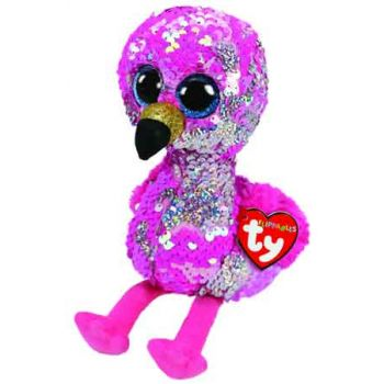 Ty Sequin Flippables Medium - Pinky Pink Flamingo