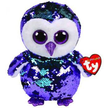 Ty Sequin Flippables Medium - Moonlight Purple Owl