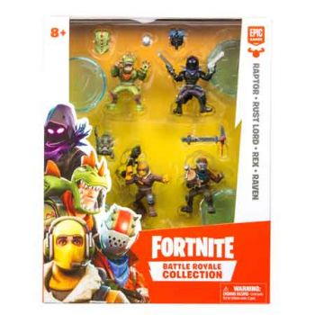 Fortnite Battle Royal Series 1 Squad Figures 4pk assorted