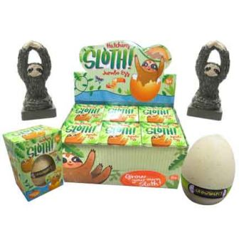Hatching Sloth Jumbo Egg ( ONLY SOLD in Display of 6 )