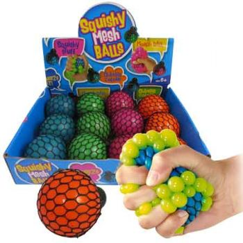 Squishy Mesh Ball assorted ( ONLY SOLD in Display of 12 )