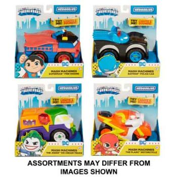 Hero Drive DC Superfriends Mash Machines Lights & Sounds assorted ( ONLY SOLD in Carton of 4 )