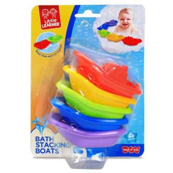 Little Learner Bath Stacking Boat 5pk