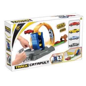 Track Catapult Set with 4 Diecast Cars