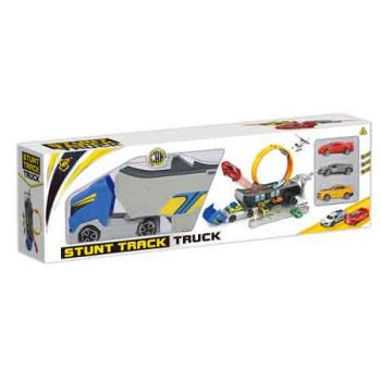 Stunt Track Truck Playset with 3 Diecast Cars