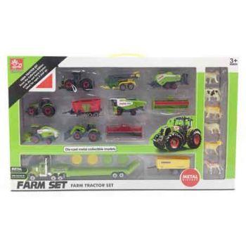 Farm Set 22pce with Diecast Vehicles