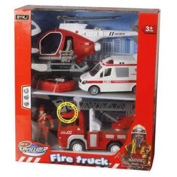 Lights & Sounds Fire Rescue Team Vehicles