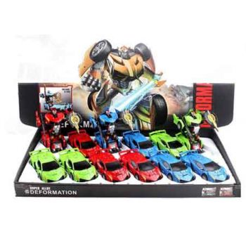 Lights & Sounds Diecast Transformable Car assorted ( ONLY SOLD in Display of 12 )