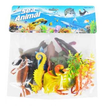 12pc Sea Animals in Bag