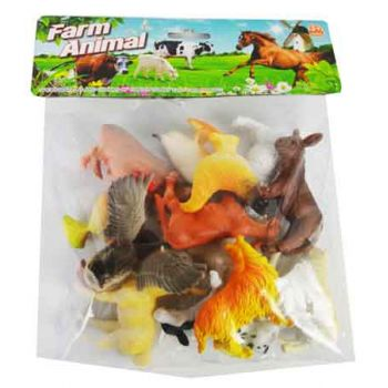 12pc Farm Animals in Bag