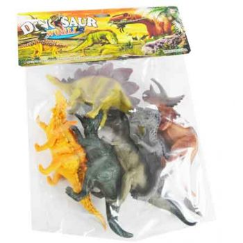 6pc Large Dinosaurs in Bag