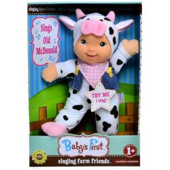 Baby's First Farm Animal Friends Doll - Cow Outfit