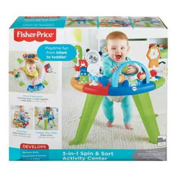 Fisher Price 3 in 1 Spin & Sort Activity Centre