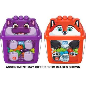 Mega Bloks First Builders Animal Buckets assorted ( ONLY SOLD in Carton of 4 )