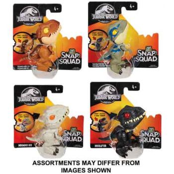 Jurassic World Snap Squad assorted ( ONLY SOLD in Carton of 4 )