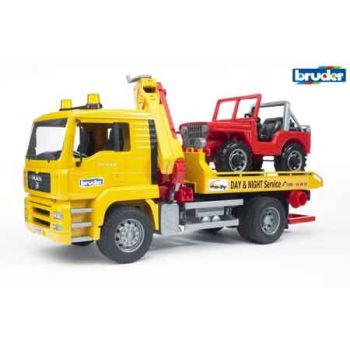 Bruder 1:16 MAN TGA Breakdown Truck with CC Vehicle