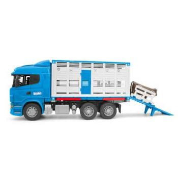 Bruder 1:16 Scania R-Series Cattle Transportation Truck w/1 Cattle