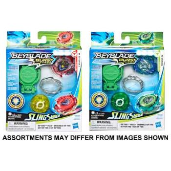 Beyblade Slingshock Rip Fire Tops assorted - All Brands Toys