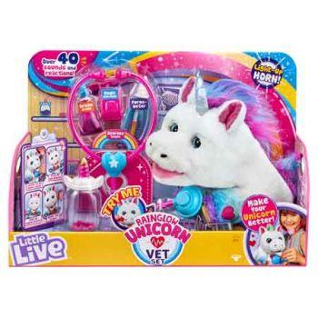 Little Live Rainglow Unicorn Vet Set