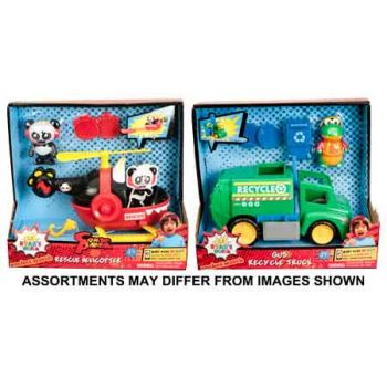 """""""Ryan's World 6"""""""" Feature Vehicles assorted ( ONLY SOLD in Carton of 4 )"""""""