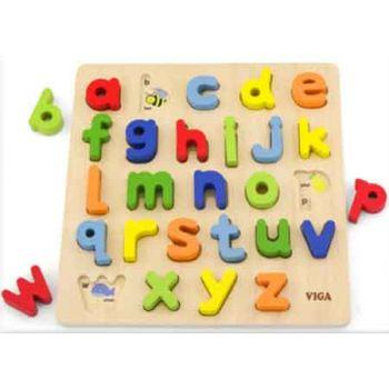 Viga Wooden Block Puzzle Alphabet Lower Case