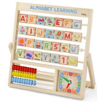 Viga Wooden Learning Alphabet & Clock