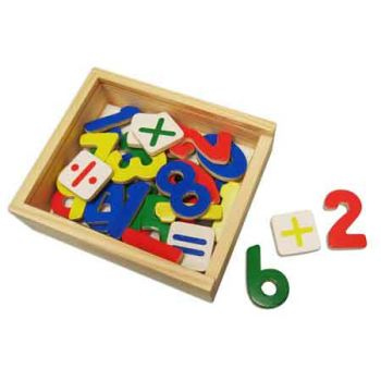 Wooden Magnetic Numbers 37pc