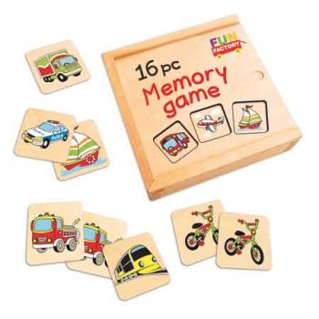Wooden Memory Game 16pc
