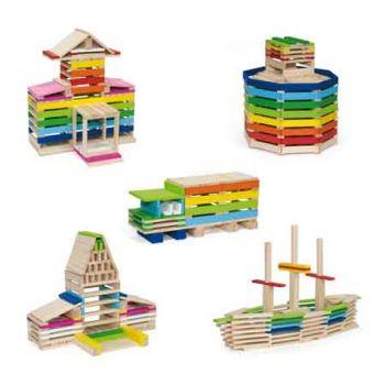 Viga Wooden Blocks 250pc Creative Blocks in Tub