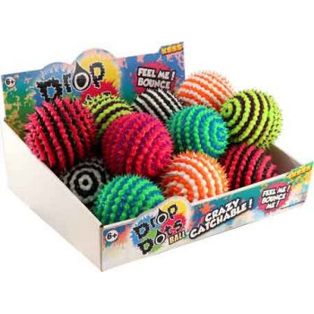 Drop Dots Ball 85mm assorted ( ONLY SOLD in Display of 18 )