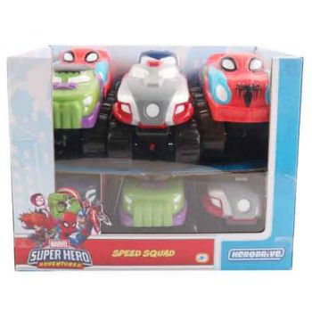 Hero Drive Marvel 4inch Speed Squad assorted ( ONLY SOLD in Display of 12 )
